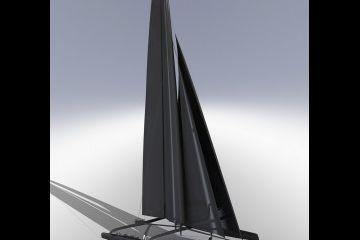 AC72 szárnyas katamarán