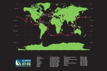 Az óceáni verseny útvonala